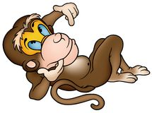 Laying Monkey Royalty Free Stock Image