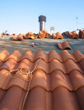 Laying New Roof Tiles 1 Royalty Free Stock Image
