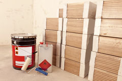 For laying parquet Stock Photo