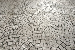 Laying patio bricks stock photos