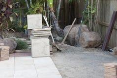 Laying paving bricks Stock Image