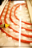 Floor heating pipe. Installation of engineering systems in a building. royalty free stock photos