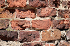 Laying from a rasny brick Stock Photos