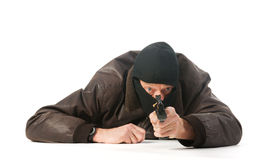 Laying sniper Stock Image