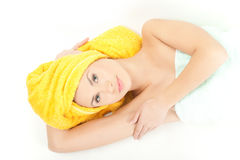 Laying in spa Stock Photo