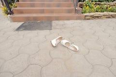Laying Wedding Shoes Royalty Free Stock Photo