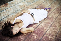 Laying woman Royalty Free Stock Photography