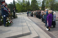 Laying of wreaths Stock Image
