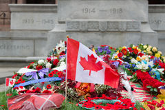 Laying wreaths Stock Images