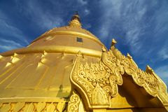 Laykyun Sekkya zakończenia widok w Monywa, Myanmar fotografia royalty free