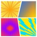 Layo creativo abstracto del espacio en blanco del estilo del arte pop de los tebeos del vector del concepto Imagen de archivo libre de regalías