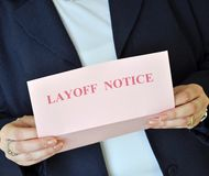 Layoff Notice stock image