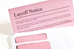 Layoff Notice Royalty Free Stock Images