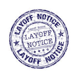 Layoff notice rubber stamp. Blue grunge rubber stamp with the text layoff notice written inside the stamp Stock Photo
