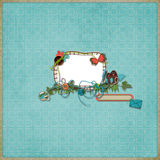 Layout. Beautiful layout with photo frame Royalty Free Stock Photo