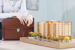 Layout of  apartment building Stock Image