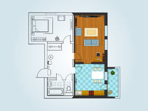The layout of the apartment Royalty Free Stock Images