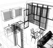 Layout of the apartment Stock Image
