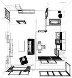 Layout of the apartment Royalty Free Stock Image