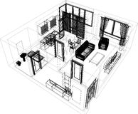 Layout of the apartment Stock Photography