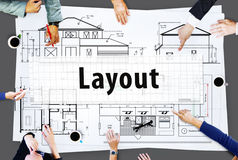 Layout Architect Construct Design Drawing Concept Royalty Free Stock Images
