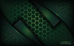 Hexagon background abstract design royalty free illustration