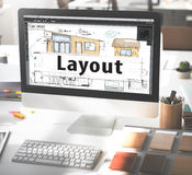 Layout Blueprint Design Consturction Editing Concept Royalty Free Stock Photo