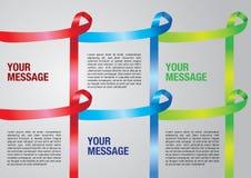 Layout border of Awareness ribbons Royalty Free Stock Images