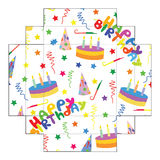 The layout of the boxes my Birthday. Stock Image