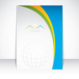 Layout brochure design Stock Images
