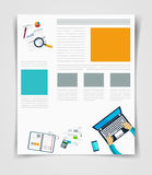 Layout business flyer or brochure technology, web template, infographics statistics Stock Photography