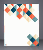 Layout business flyer, magazine cover, or corporate geometric design template advertisment. Illustration Stock Image