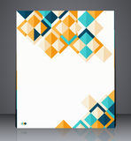 Layout business flyer, magazine cover, or corporate geometric design template advertisment. Illustration Royalty Free Stock Photography