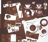 Layout for cofeeshop. Royalty Free Stock Photography