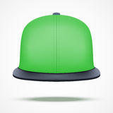 Layout of color rap cap. Front view.. A template simple example. Editable Vector Illustration isolated on white background Royalty Free Stock Images
