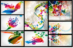 Layout colorful design set Royalty Free Stock Images