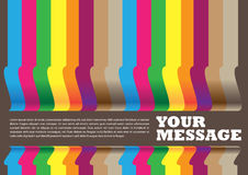 Layout design of colorful paper banners Stock Images