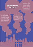 Layout Design for Industrial Pollution Background Template Stock Images