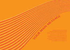 Layout design of smooth lines background in orange color Royalty Free Stock Images
