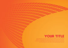 Layout design of smooth lines background in orange color Royalty Free Stock Photography