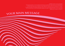Layout design of smooth lines background in red color Royalty Free Stock Photo