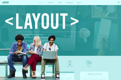 Layout Editing Page Responsive Design Concept Royalty Free Stock Photo
