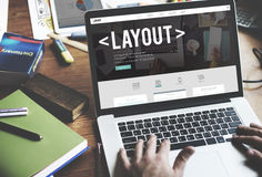 Layout Editing Page Responsive Design Concept Stock Photos