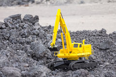 Layout excavator Stock Photo