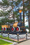 The layout of the first Russian steam locomotive Cherepanov  18 Stock Photos