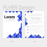 Layout flyer template modern design Stock Photography