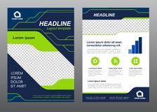 Layout flyer template size A4 cover page Green light line and dark blue art Vector design vector illustration