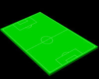Layout of a football field. On a black background Royalty Free Stock Images