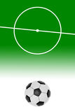 Layout of a football field and ball Stock Images