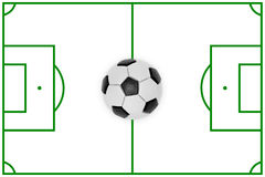 Layout of a football field and ball royalty free stock images